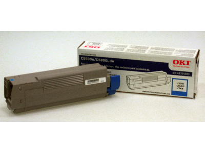 43324403 OKI Type C8 Cyan Toner Cartridge
